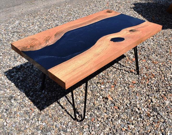 Table Modèle Rivière En Résine époxy Diy Polyestershoppenbe