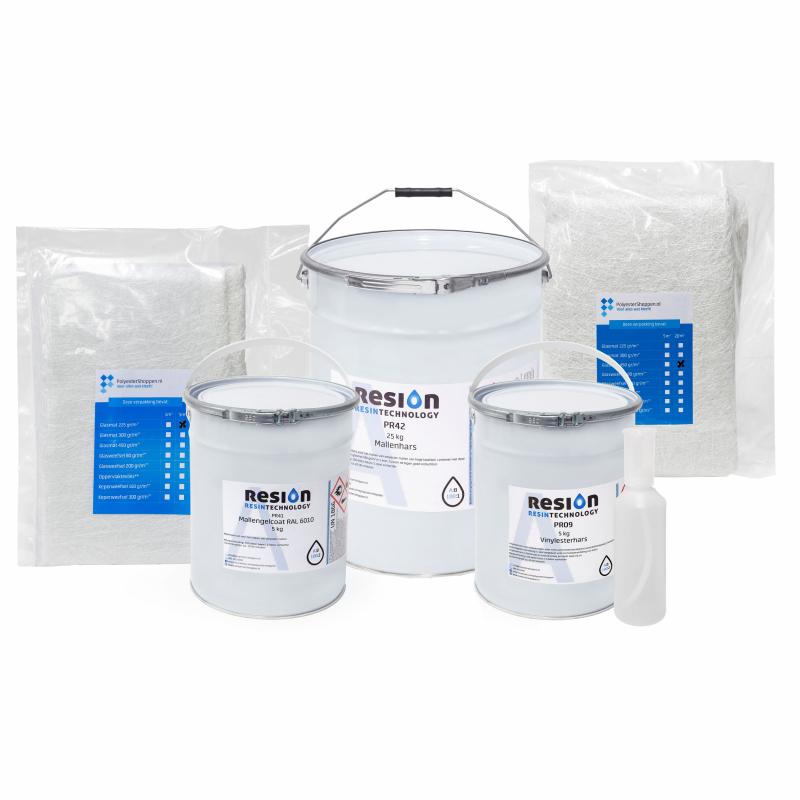 Polyester mallenbouw pakket 4m2