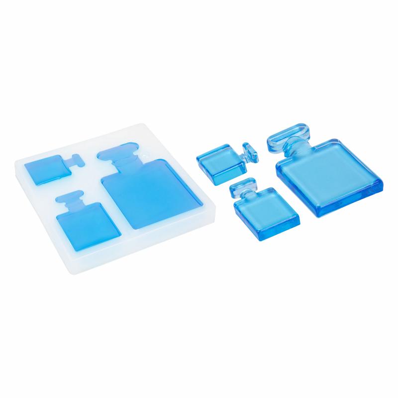 Parfumflesje in siliconen mal compilatie