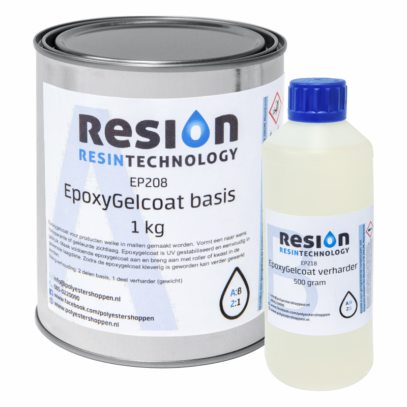 RESION Epoxy Gelcoat basis en verharder