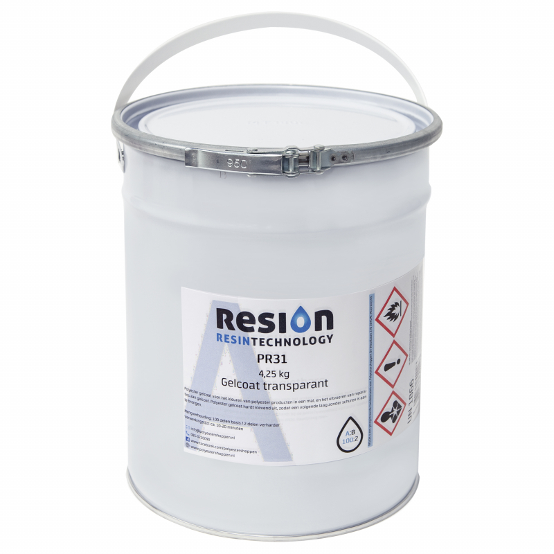 Polyester gelcoat transparant 4,25kg