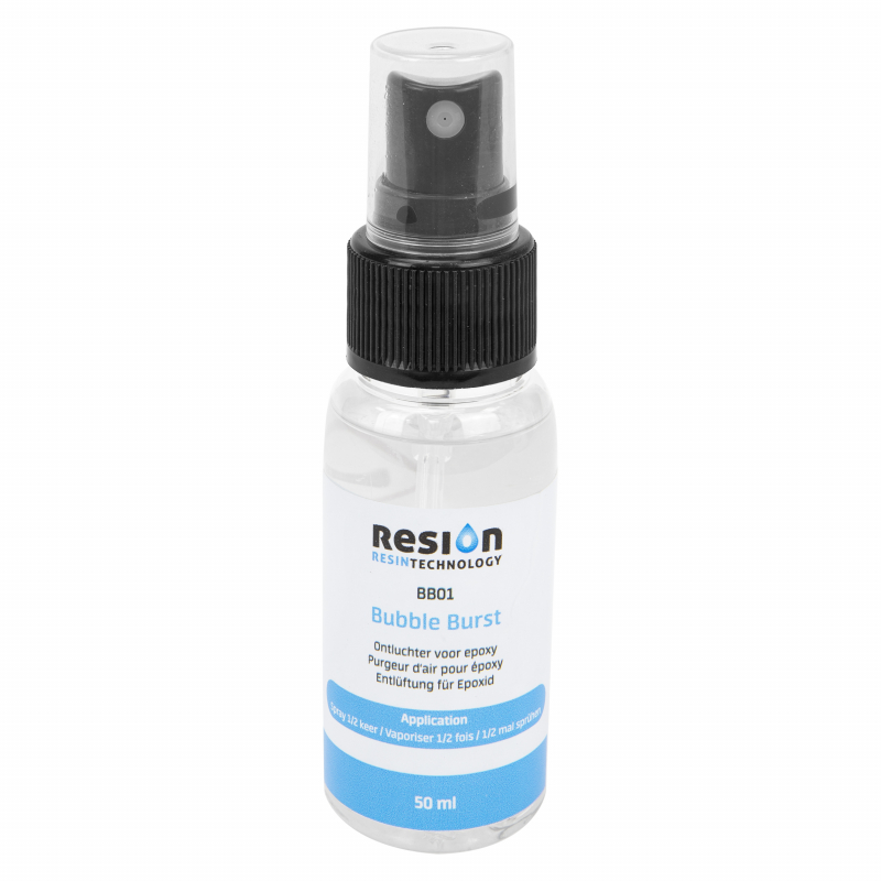 RESION Bubble Burst verwijdert luchtbellen uit epoxy