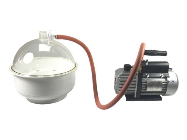 Vacuum onluchtset met 8 liter koepel en pomp