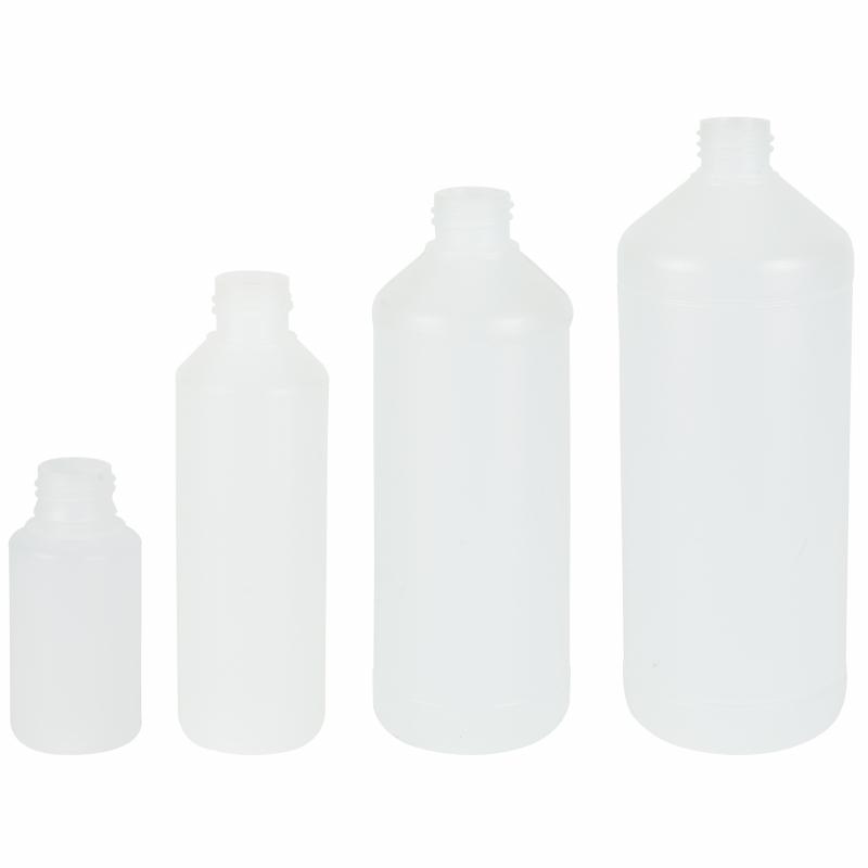 Plastic Fles HDPE naturel transparant 0,1 0,25 0,5 1 liter