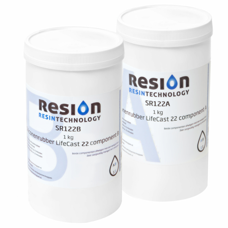 Huidvriendelijke siliconenrubber lifecasting