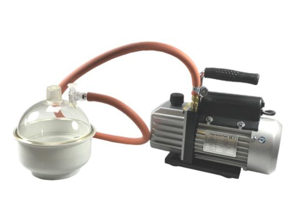 Vacuum ontluchtset met 2 liter koepel en pomp